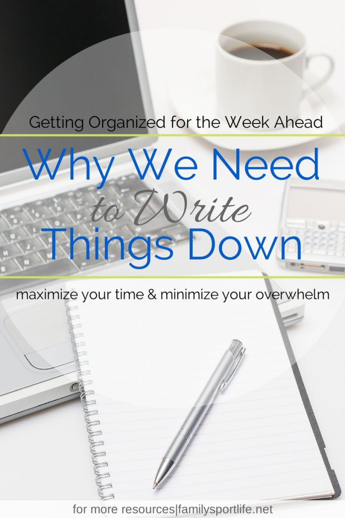 Why We Need to Write Things Down