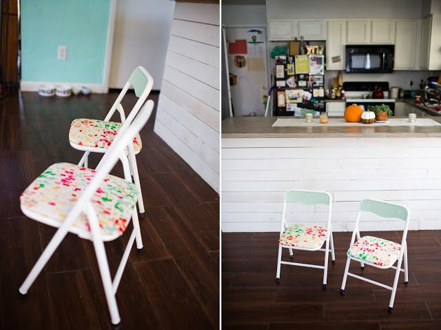From trash to treasure kids folding chairs