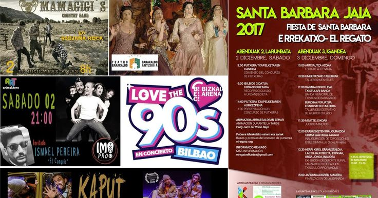 Agenda | Fiesta de Santa Bárbara en El Regato + rock + musical + teatro para niños