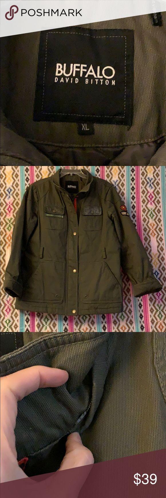 Buffalo David Bitton Size Xl Army Green Coat Army Green Coat Green Coat Clothes Design [ 1740 x 580 Pixel ]