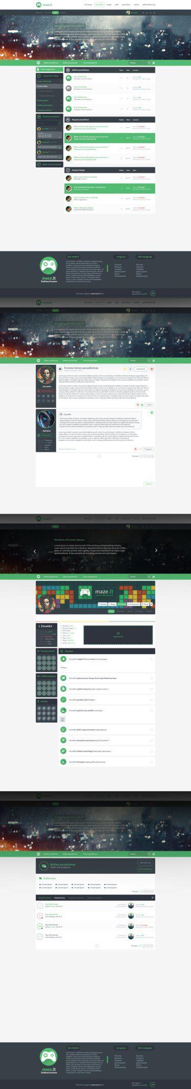 Maze.lt Web design by iEimiz on DeviantArt