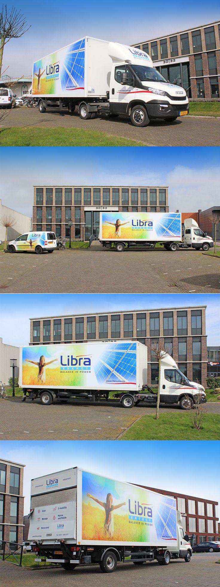 Belettering Design Iveco Truck for Libra Energy