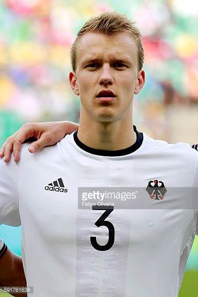 Klostermann of Germany looks on during the Men's Group C second round match between Germany and Korea Republic of the Rio 2016 Olympic Games at Arena...