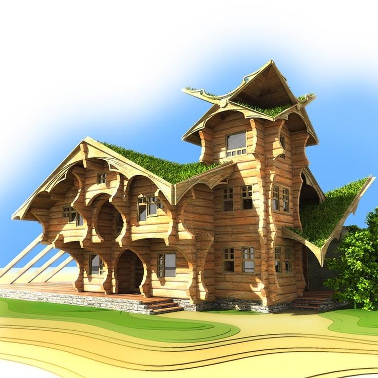 Fram design our russian friends log cabins scotland for Log construction
