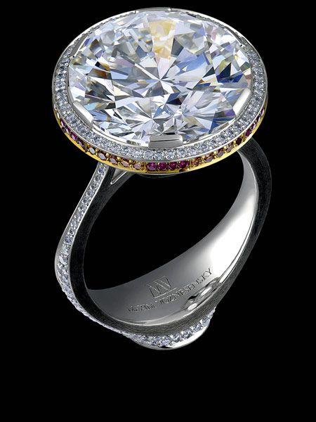 Jewellery Theatre - Art-Stones Collection - 18K White Gold, diamonds, rubies.