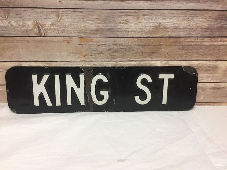 1950s King St Street Sign Brooklyn Red Hook NYC Porcelain Black White | Collectibles, Transportation, Signs | eBay!