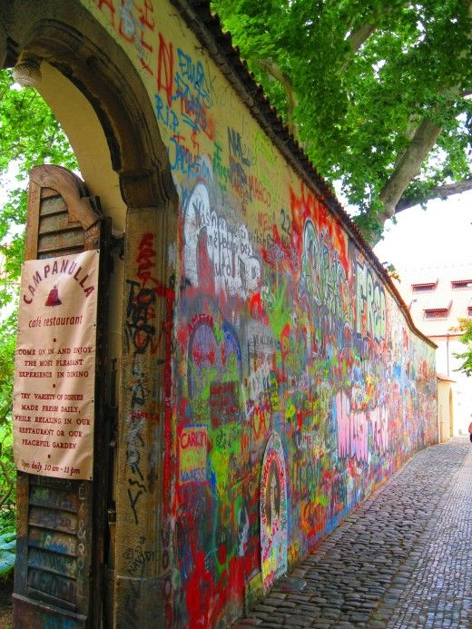 The John Lennon Wall | Prague, Czech Republic 2015. Found a geocache here, was our first log for the Czech Republic.