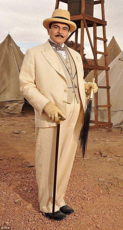David Suchet as 'Hercule Poirot' http://www.dailymail.co.uk/tvshowbiz/article-2061754/David-Suchet-play-Hercule-Poirot-time-22-years.html