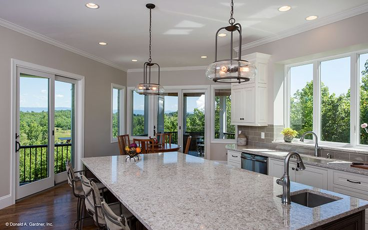 Kitchen Island From The Butler Ridge Home Design 1320 D A