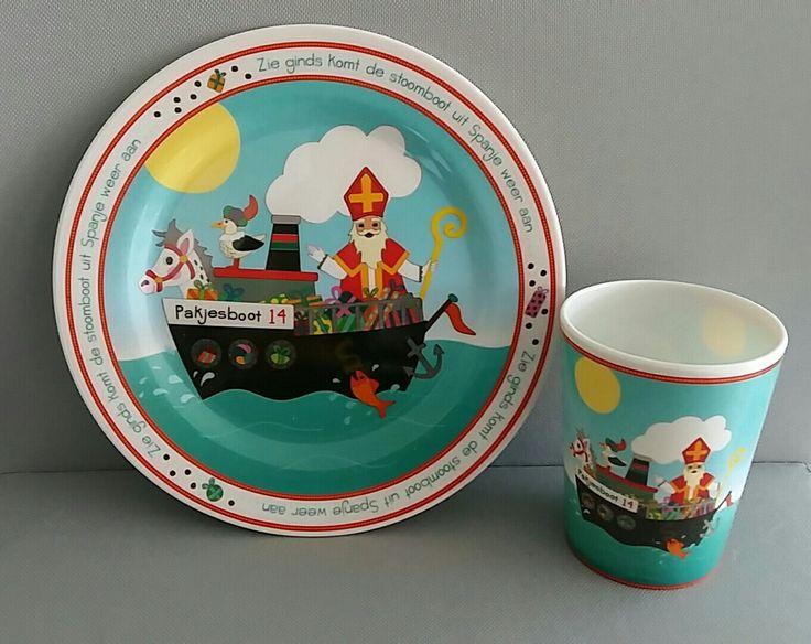 Sinterklaas bord  beker