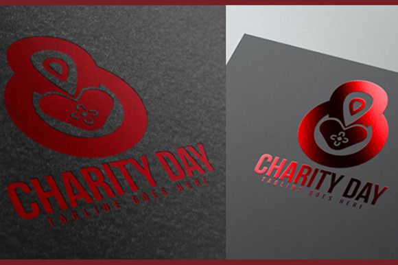 Charity Day Logo by MAGOO STUDIO on Creative Market