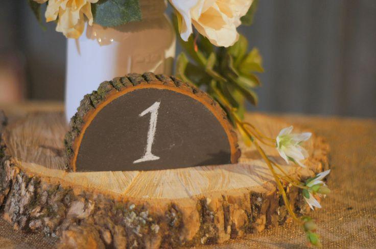 12 Rustic Chalkboard Table Numbers , Rustic Wedding