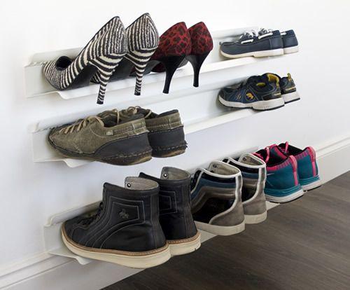 Best 25 wall mounted shoe rack ideas on pinterest j me for Diy wall shoe rack