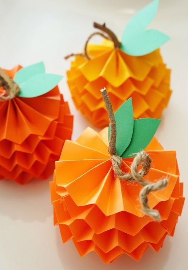 How To Make Paper Pumpkins For Fall