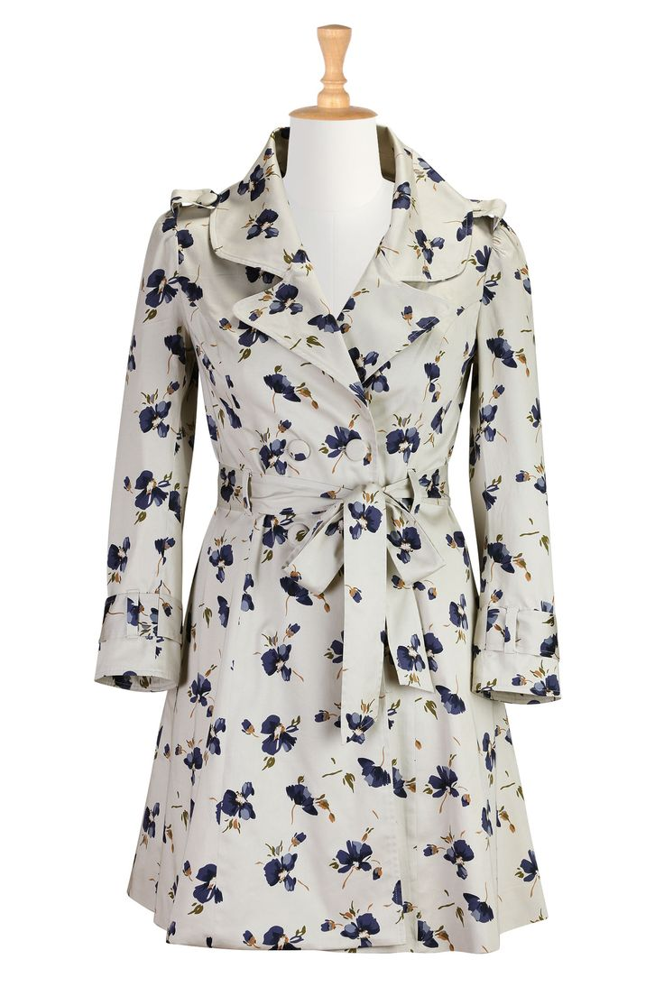 Image result for floral plus size trench