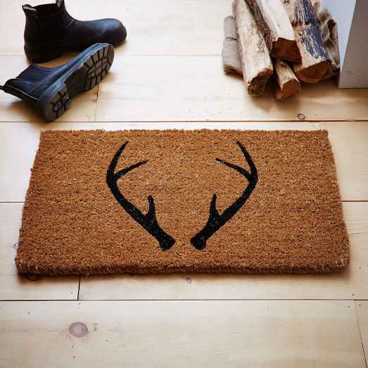 The Southern C West Elm Antler Doormat Thesouthernc
