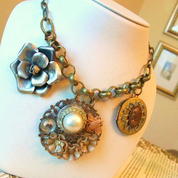 97 best images about repurposed jewelry on pinterest for Repurposed vintage jewelry designers