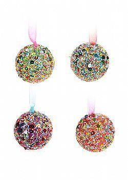 Χριστουγεννιάτικες μπάλες παιδικές - πολύχρωμες - Στολίδια δέντρου