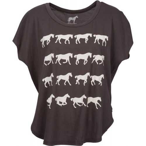 Gaits of the Horse in Charcoal now available at www.tarakiwi.com #equestrian #fashion