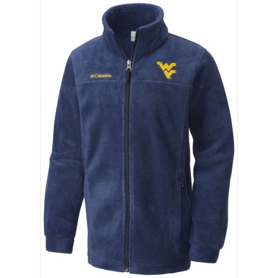 Your little Mountaineers can sport their gold and blue spirit even after  that first snowflake flies in our Columbia WVU Youth Flanker Full Zip Jacket ! df2348a381e3