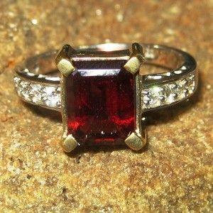 Elegant Pyrope Garnet Ring 8.5US