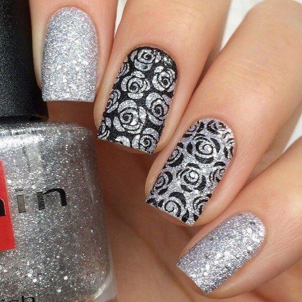 Decoración de uñas especiales para ocasiones elegantes . Uñas decoradas elegantes en rojo, negro, blanco y muchos colores más para que combinen con todo.