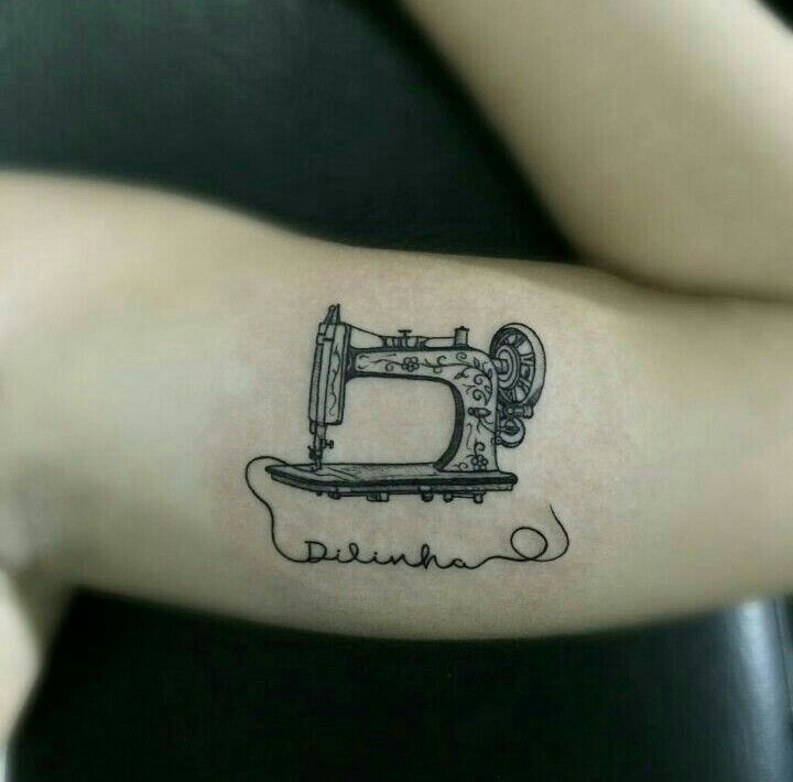 Sewing machine tattoo Tatuagem maquina de costura