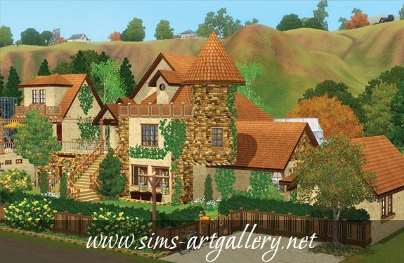 Autumn leaf house http://www.sims-artgallery.net/en/gallery/sims-3/lots/residential-lots/medium/382/