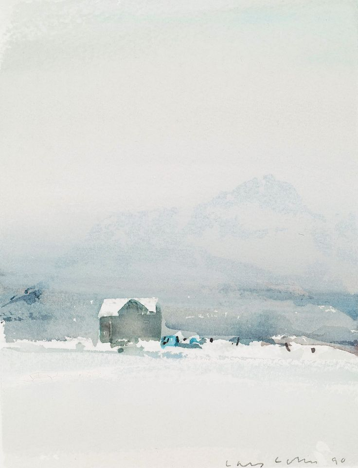 "kafkasapartment: "" The Waiting House, 1990. Lars Lerin. Watercolor. """