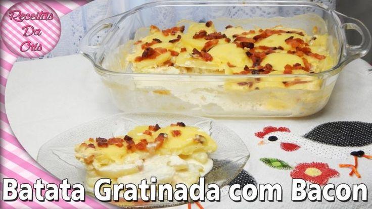 Batata Gratinada Com Bacon!! - Blog Das Receitas