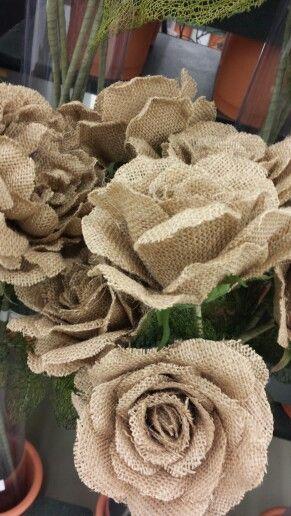 Burlap flowers from hobby lobby