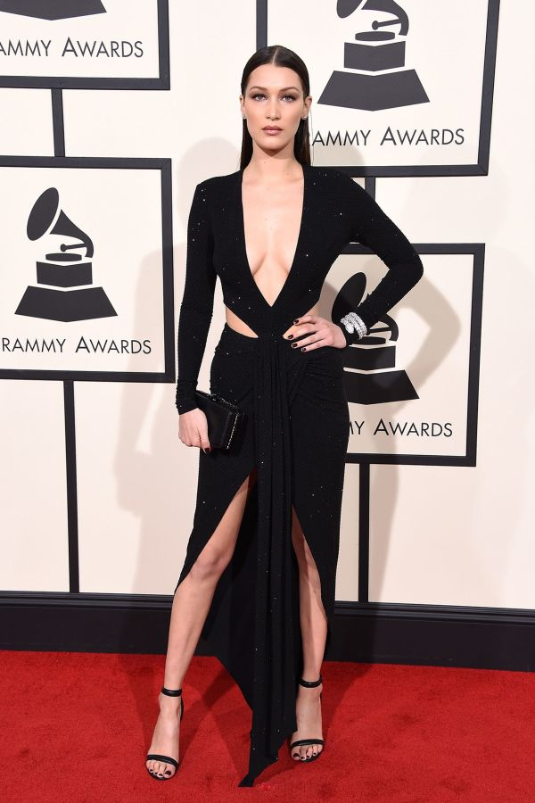 Bella Hadid in Alexandre Vauthier Couture at the 2016 Grammys