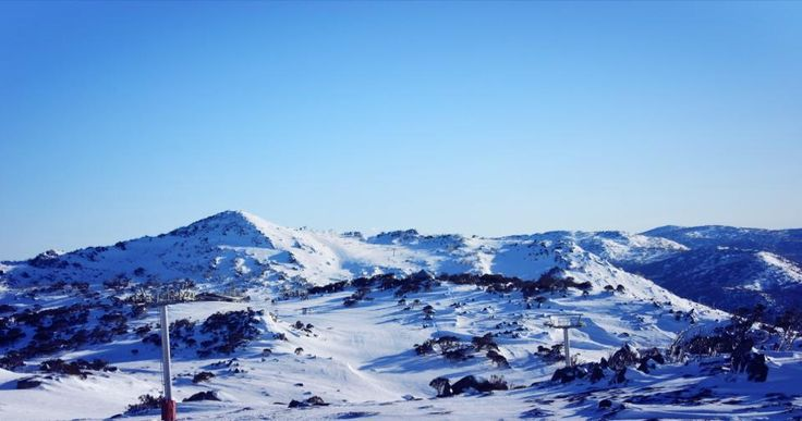 Blue Cow, part of Perisher ski resort in Australia's Snowy Mountains #snowaus