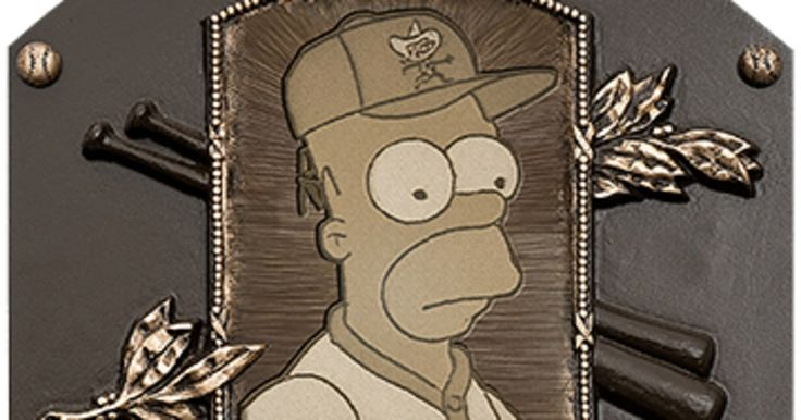 http://ift.tt/2tEiXwK Homer Simpson was inducted in the Baseball Hall of Fame in Cooperstown. This was celebrate the 25th anniversary of a Season 2 episode of The Simpsons when 9 MLB players cameoed for Mr Burns softball team back in season 2 1991.