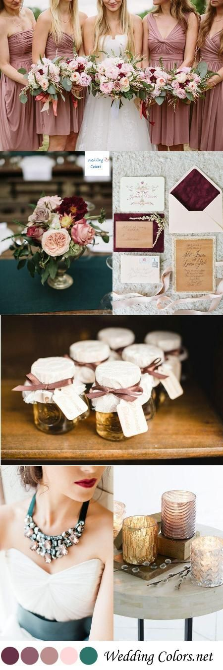 {Shades of Mauve, Blush & Turquoise} Wedding Color Inspiration