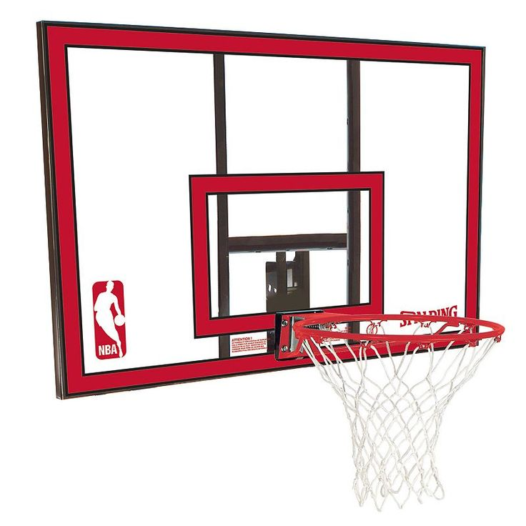 Spalding 44-Inch Polycarbonate Combo Basketball Backboard, Red