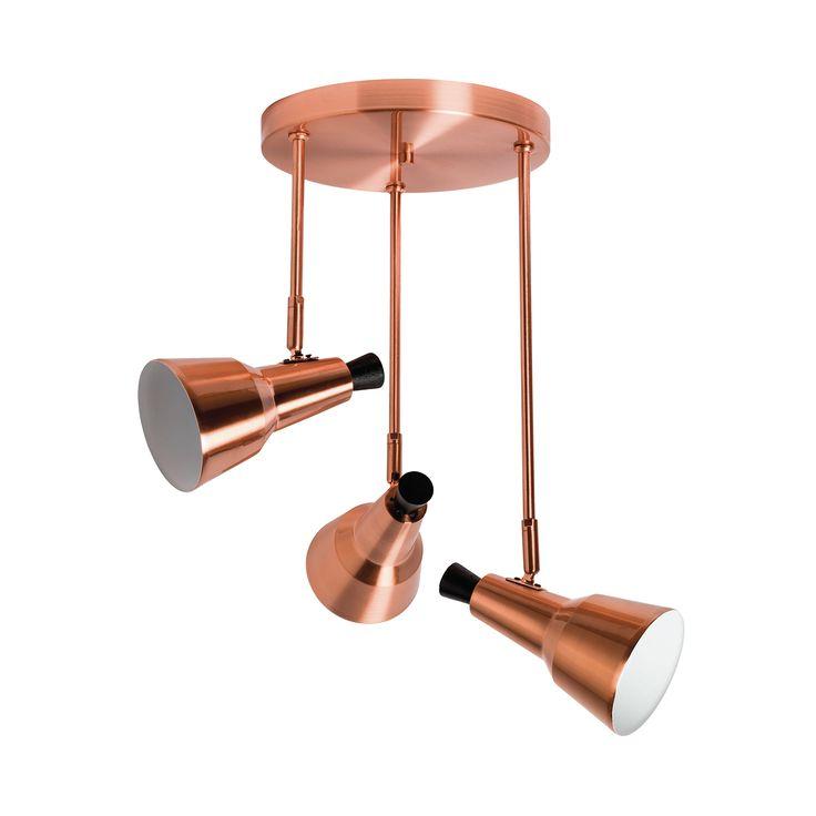 Lámpara retro 3 focos para LEDSHERLOCK SULION | Comprar focos de techo de LED y diseño moderno con precios económicos  #iluminacion #decoracion #diseño #lamparas #focos #iluminaciontiendas
