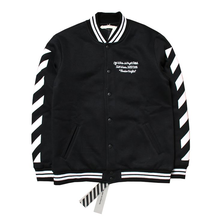 winter coat men clothes urban clothing S-XL black college varsity letterman jackets off white virgil abloh baseball jacket     Tag a friend who would love this!     FREE Shipping Worldwide     Get it here ---> http://onlineshopping.fashiongarments.biz/products/winter-coat-men-clothes-urban-clothing-s-xl-black-college-varsity-letterman-jackets-off-white-virgil-abloh-baseball-jacket/