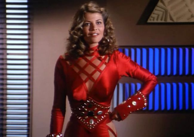 Markie Post's space age getup from Buck Rogers