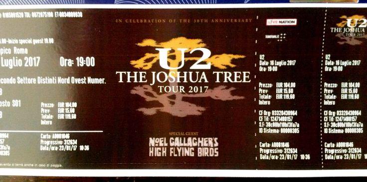 The Joshua Tree Tour 2017 Roma - Stadio Olimpico - 15/16 Luglio