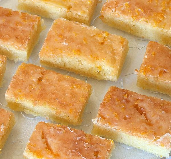 Paula Deen's Orange Brownies Recipe Desserts with all-purpose flour, granulated sugar, salt, butter, large eggs, orange extract, orange zest, powdered sugar, orange zest, fresh orange juice