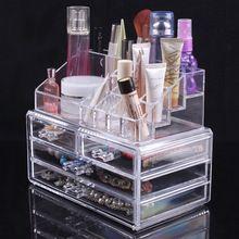 Косметический хранения организатор ящика макияж ювелирные изделия чехол чемодан вставить держатель Box(China (Mainland))