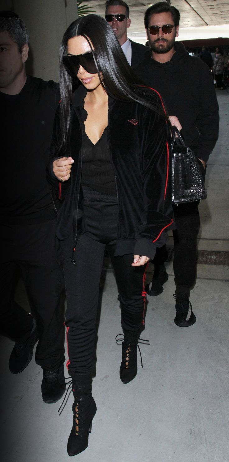 Celebrity-Inspired Outfits to Wear on a Plane - Kim Kardashian West from InStyle.com
