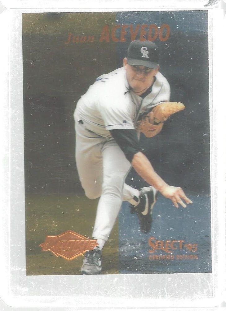 Juan Acevedo Rookie 130 Select Certified 1995 Baseball Card New York Mets #Pinnacle #NewYorkMets
