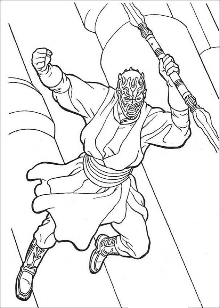 Darth Maul Coloring Page Educative Printable Coloring Pages