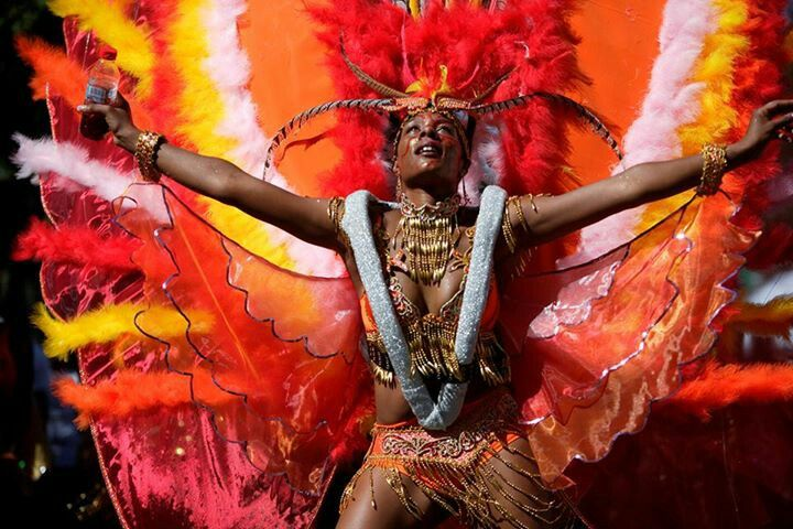 Where better to see high energy colours than at the Nottinghill Carnival.