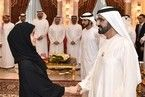 Sheikh Mohammed bin Rashid, Vice President and Ruler of Dubai, meets top Emirati students from UAE's universities, military colleges and academies, and high schools, during a reception on Saturday at Zabeel Palace. Sheikh Mohammed congratulated them for their academic achievements. Sheikh Hamdan bin Mohammed, Crown Prince of Dubai, and Mohammed Al Gergawi, Minister of Cabinet Affairs and the Future, also attended. Wam