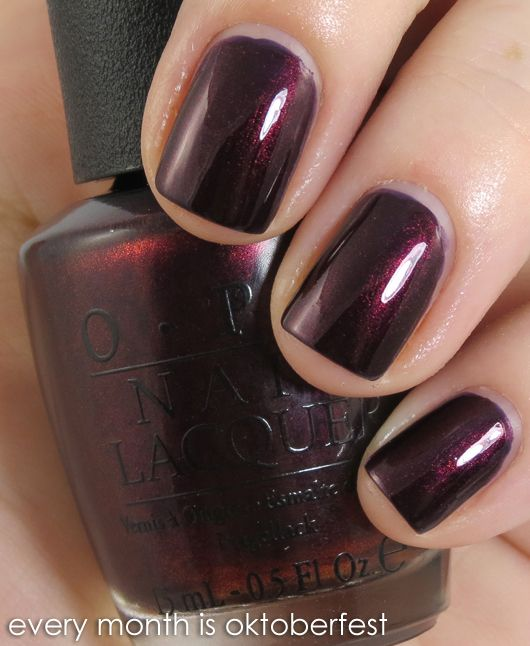 Review & Swatches: OPI Germany Collection for Fall/Winter 2012 | Beauty Junkies Unite: Germany Collection, Every Months, Nails Colors, Fall Colors, Oktoberfest Opi, Opi Germanicur, Nails Polish, Opi Oktoberfest, Fall Winter