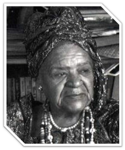 (1898 - 1996) Queen Mother Audley Moore was a Revolutionary, Pan-Afrikanist, and Harlem Activist for Marcus Garvey's UNIA. Organized domestic workers in Harlem and the Bronx, and joined the Communist Party USA in 1993. Master street agitator and founder of the National Council of Negro Women and Universal Association of Ethiopian Women. Formed the Reparation Committee of Descendants of U.S. Slaves in 1962-63. Critical force in the declaration of the Republic of New Afrika in 1968.