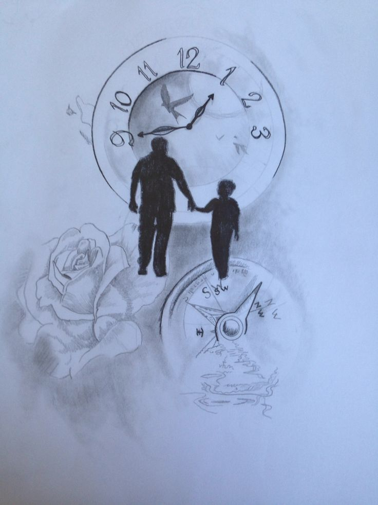 Sketch love father and son Tattoo | tattoos! | Tattoo for ...